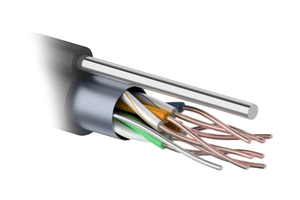 FTP 4PR 24AWG CAT5e 305м OUTDOOR+ТРОС*1. PROCONNECT (01-0155)